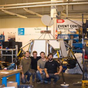 complete landing module in workshop