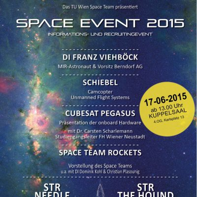 Space Event 2015 Flyer Vorderseite