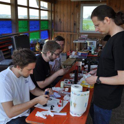 Preparing the motors