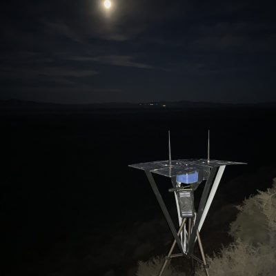 Autonome Bodenstation, ca 30 km vom Startplatz entfernt