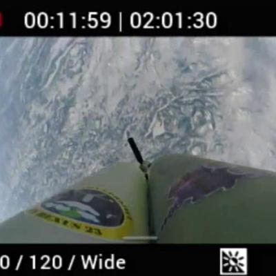 Auswurf eines SpaceSeeds, gefilmt aus der Rakete (c) Project Daedalus