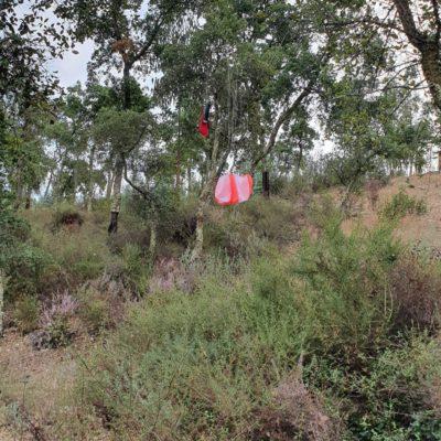 Booster Main Parachute Landing Site